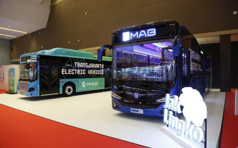 Electric buses at Busworld Southeast Asia 2019